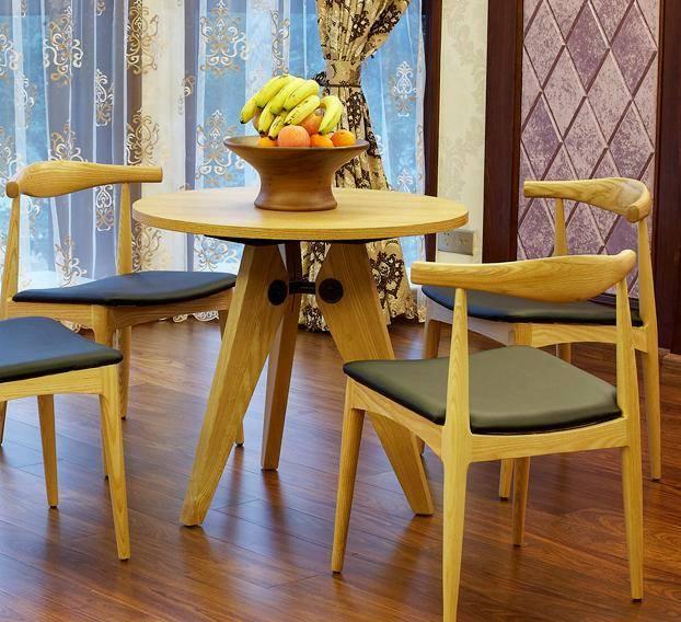 Bàn ghế ăn đẹp bằng gỗ sồi nga - gỗ ash